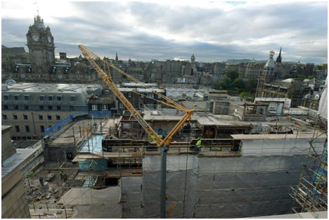 west regsiter street, edinburgh, demolition, asbestos removal